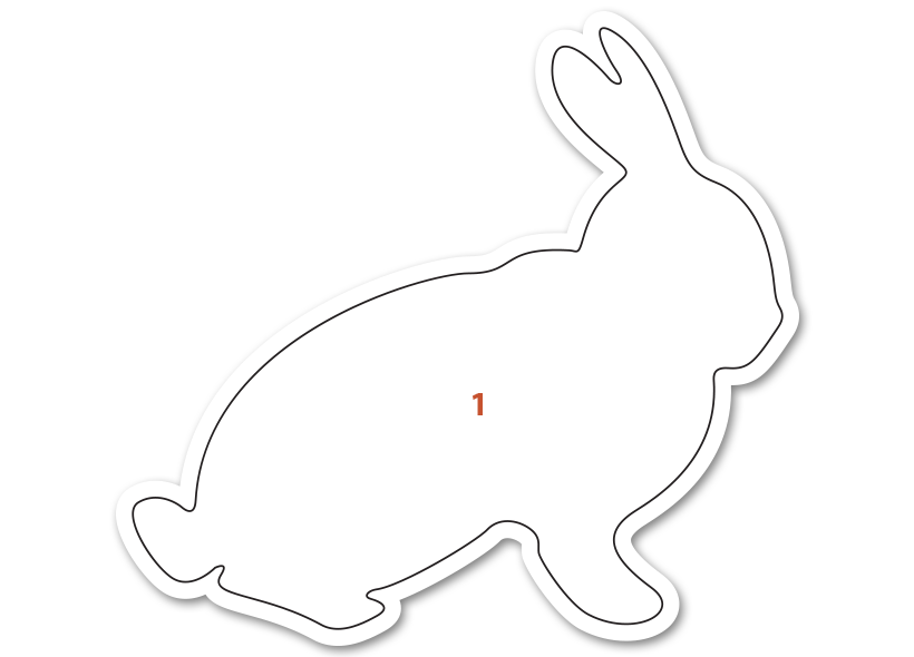 Lapin coupes